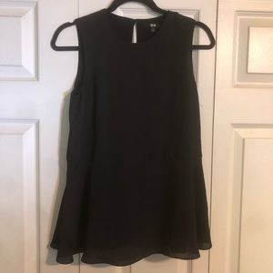 UNI-QLO Small Black Sleeveless Blouse A-Line Tank